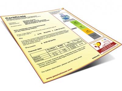 Lesena okna - certifikat