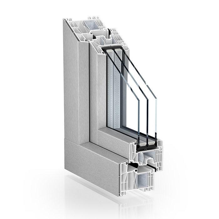 PVC okna 88 KBE AluClip